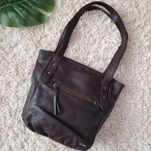 The Sak Leather Tote Olema Chocolate Brown